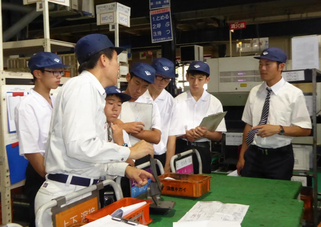 国産機械株式会社_中学生が修学旅行で工場見学にやってきました。